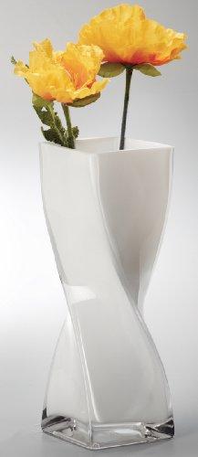 """Vase """"Twister"""" L x B x H: 10 x 10 x 40 cm weiss"""