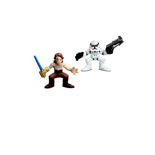 Star Wars 2009 Galactic Heroes 2-Pack Tattooed Anakin and Clone Trooper