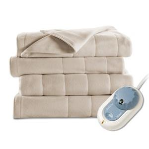 Jarden Home Environment Sunbeam Quilted Fleece Blanket Full Sand Excellent Performance