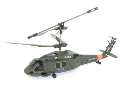 Syma S102G 3-Channel RC Helicopter Black Hawk UH-60