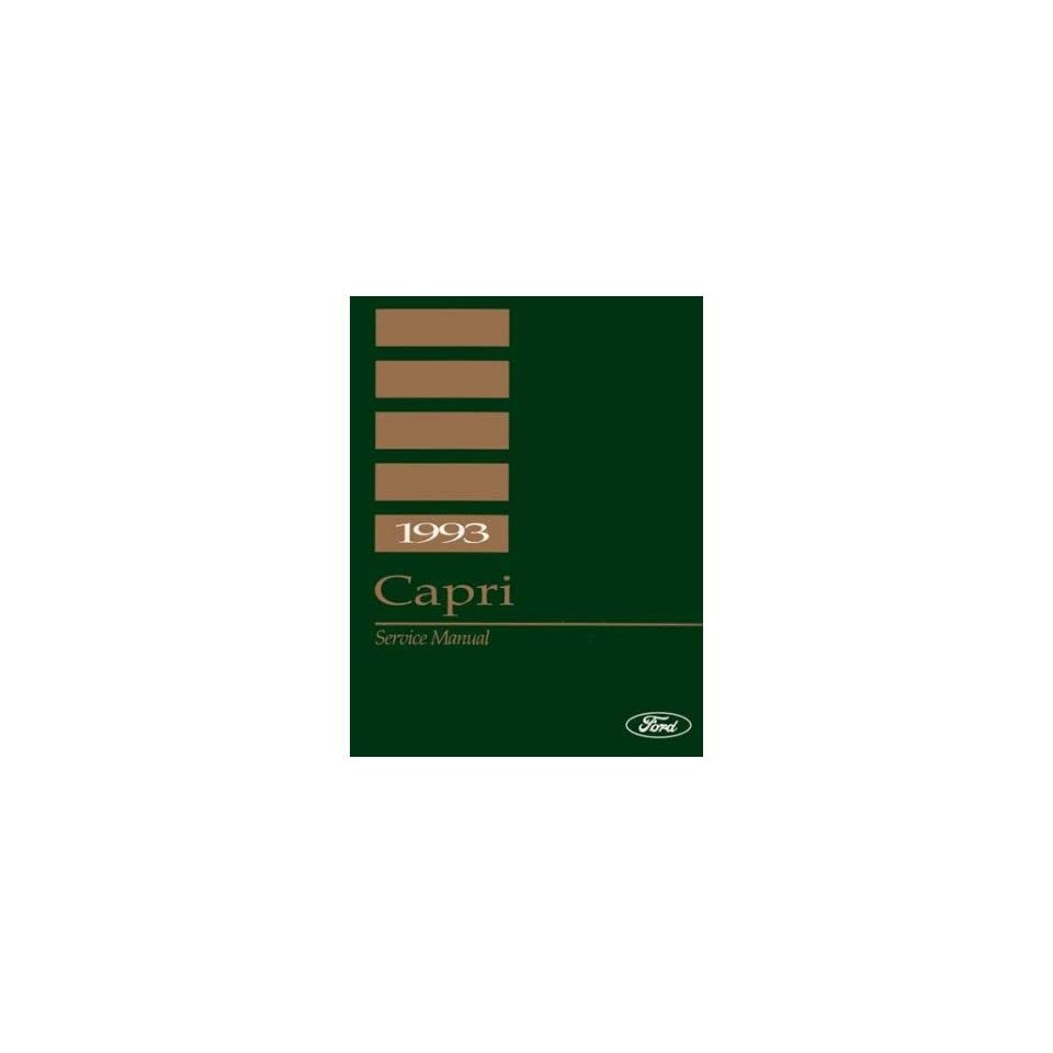 1993 Mercury Capri Shop Service Repair Manual Book Engine Drivetrain Electrical