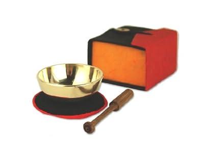 Klangschale mini Geschenk Set in Box bunt -5078-