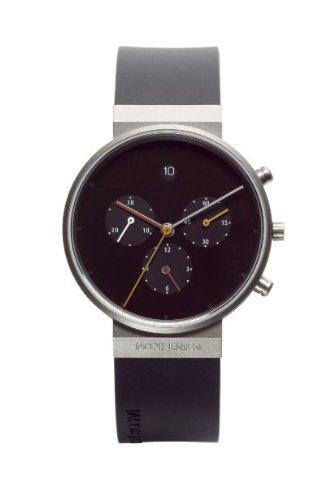 Jacob Jensen - 600 - Montre Mixte - Quartz - Chronographe - Chronomètre/Chronomètre - Bracelet Caoutchouc Noir