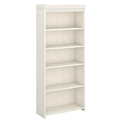 Bush Furniture Fairview 5 Shelf Bookcase, Antique White (Bush Fairview compare prices)
