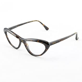 Marni Eyeglasses MA675S 08 Dark Black and Brown Tortoise Frame with Clear Lenses