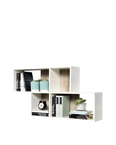 Fashion Home Estantería De Pared Zed A4 Blanco