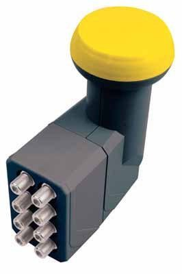 10m 4-Fach Quad Quattro Koaxial Sat Antennen Anschluss Kabel 4x Gratis F-Stecker