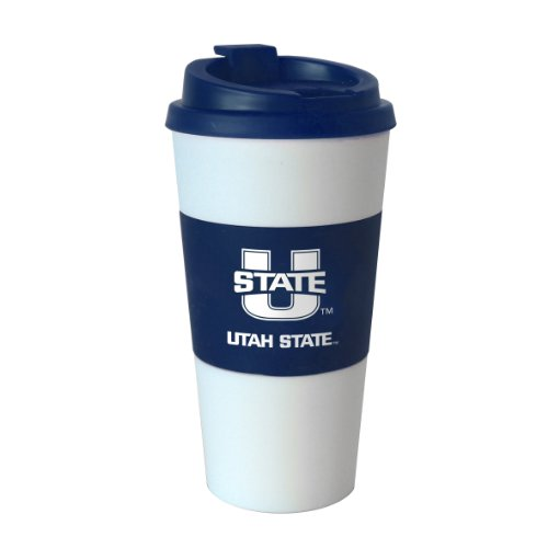 NCAA Utah State Aggies Sleeved Travel Tumbler, 16-Ounce at Amazon.com