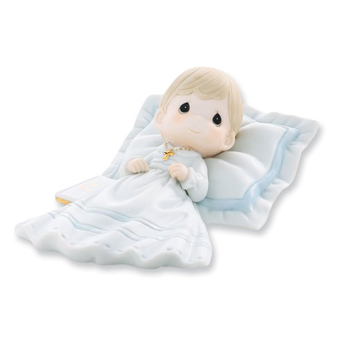 Precious Moments Baptized In His Name Boy Porcelain Figurine