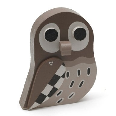 Little Owl'' Wooden Bird by Matt Sewell||EVAEX
