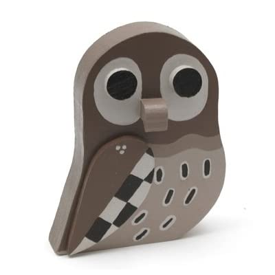 Little Owl' Wooden Bird by Matt Sewell ||RF10F ||RNWIT
