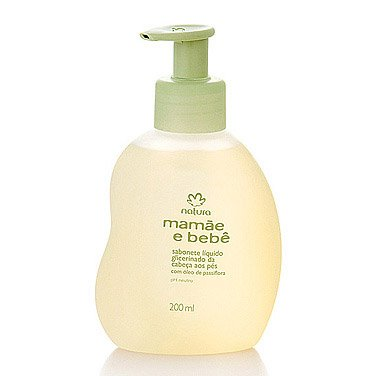Linha Mamae Bebe Natura - Sabonete Liquido Glicerinado da Cabeça aos Pes 200 Ml - (Natura Mom and Baby Collection - Glycerin Liquid Soap Head to Toe 6.76 Fl Oz)