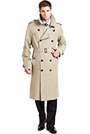 Stormwear™ Cotton Rich Double Breasted Long Trench Coat