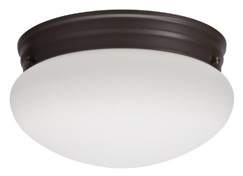 Lithonia 10976 Bz M2 Mushroom Flush Mount Ceiling Light, Bronze
