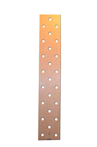 OFG Best Durable Pegboard Climbing Board Wall Mounted For Residential Commercial Heavy-Duty Institutional Use CrossFit Fitness (Birch Plywood, 57)