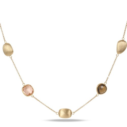 Brass 75ct TGW Multi-colored Gemstone Necklace