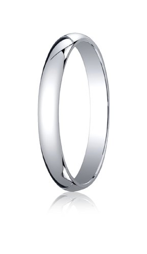 14K White Gold, 3.0mm Traditional Dome Oval Ring (sz 7)