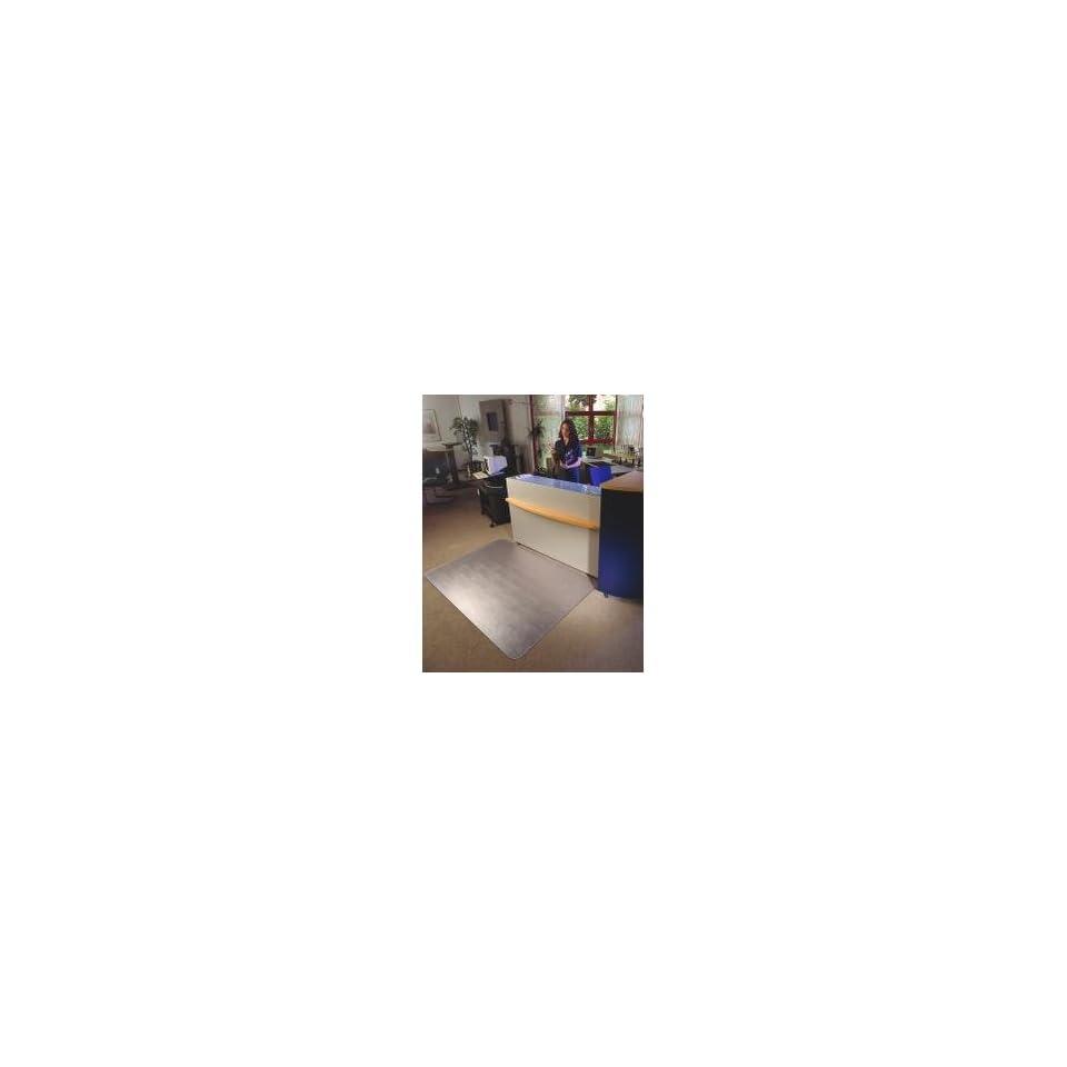 Floortex 1113423ER   Polycarbonate Chair Mat, 48 x 53, Clear