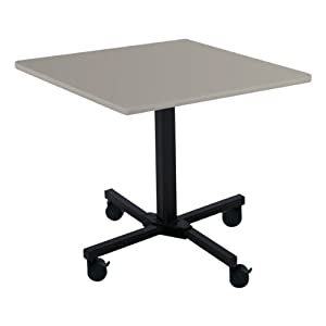 Square Aluminum Mobile Cafe Table Adjustable Height 36 W X 36 L Coffee Tables