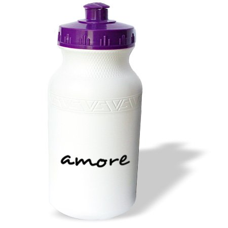Wb_185029_1 Inspirationzstore Love Series - Amore, Word For Love In Italian Romantic World Language, Italy Text - Water Bottles
