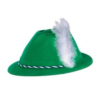 Green Velour Tyrolean Alpine Party Hat