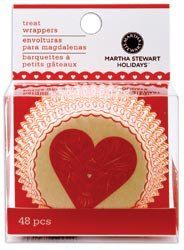 Bulk Buy: Martha Stewart Cupcake Wraps 48/Pkg-Heart & Love (3-Pack)