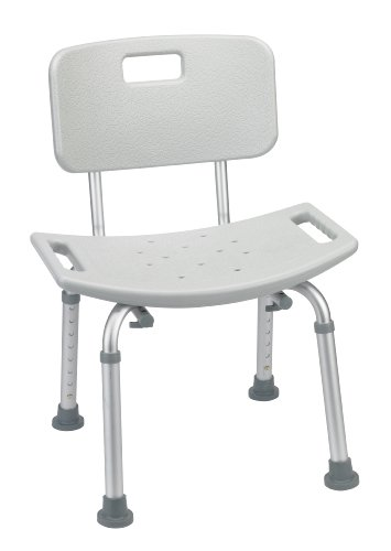 Bathroom Safety Shower Tub Bench Chair with Back, Grey (Handicap Tub Seat compare prices)