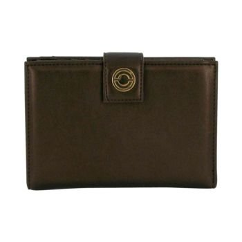 Miss Rocaille by Caron Brown Leather Clutch Purse — for Women