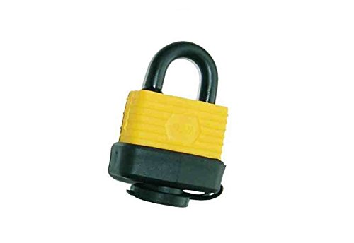 HOXO - 40MM WATERPROOF AND WEATHER RESISTANT HEAVY DUTY OUTDOOR SHACKLE PADLOCK WITH SET OF 2 KEYS. THOUSANDS OF KEY COMBINATIONS. PERFECT SECURITY LOCK FOR GATE, BIKE CHAIN, GARAGE DOOR, GARDEN SHED, MOUNTAIN BICYCLE, TOOLBOX, CABINET