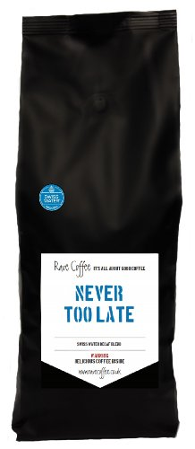 Rave Coffee Swiss Water Blend Decaffeinated Fresh Roasted Coffee Beans 1 Kg