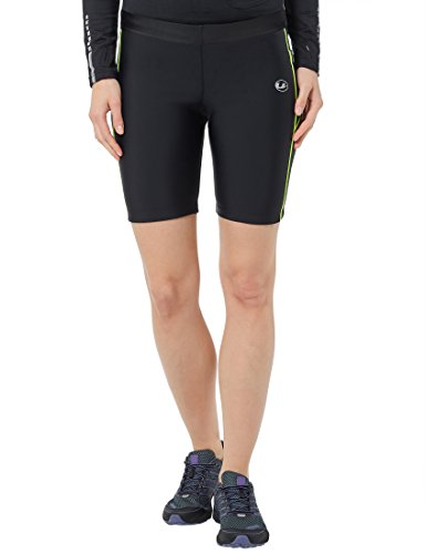 Ultrasport Women's Compression Effect and Quick-Dry-Function Running Tight Pants - Black/Neon Yellow, X-Large