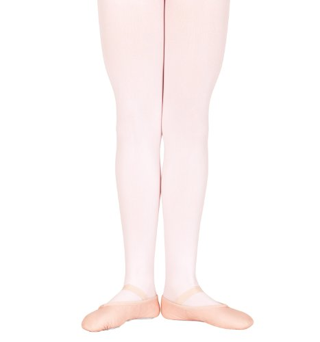 Bloch Toddler Endura Footed Tights, Pink-Chp 2/4 front-1009525
