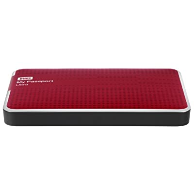WD My Passport Ultra 500 GB Portable External USB 3.0 Hard Drive with Auto Backup - Red