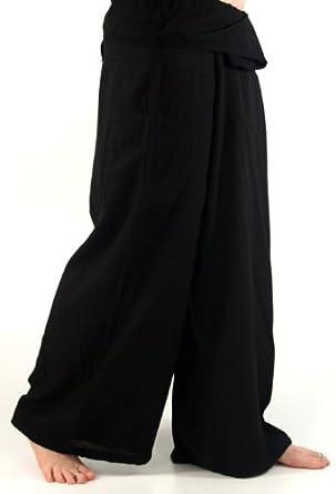 Rayon Fischerhose, Yogahose schwarz / Fischerhosen bis 175 cm Größe