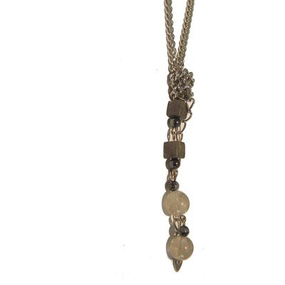 Hematite Necklace 01 Chain Marble Rutilated Quartz Snowflake Obsidian 17