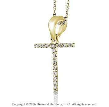 14k YG Diamond Letter ^T^ Casual Fun Initial Pendant