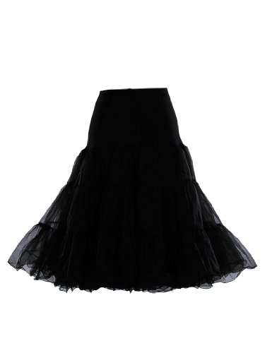 Artwedding 50's Bridal Party Dress Vintage Petticoat, Black