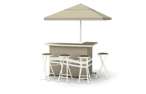 Best of Times Patio Bar and Tailgating Center Deluxe Package- Classic Tan