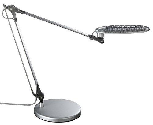 Lightpilot S650 By Lumiy - Ultra Bright Led Light Panel Desk Lamp (Titanium Silver With Base)
