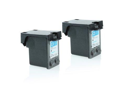 Inkadoo® XXL Tinte passend für HP DeskJet D 2360 ersetzt HP Nr 21 SD366AE - 2x Premium Drucker-Patrone Kompatibel - Schwarz - 2 x 20 ml