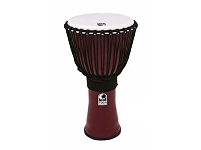"Toca 9"" Freestyle II Rope Tuning Djembe - Dark Red"