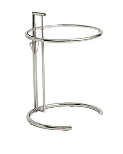 Manhattan Living Round End Side Table, Clear
