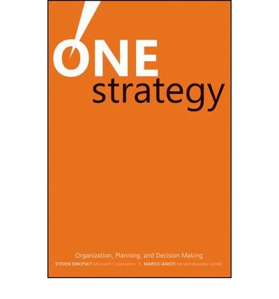 [(One Strategy: Organization, Planning, and Decision Making )] [Author: Steven Sinofsky] [Jan-2010], by Steven Sinofsky