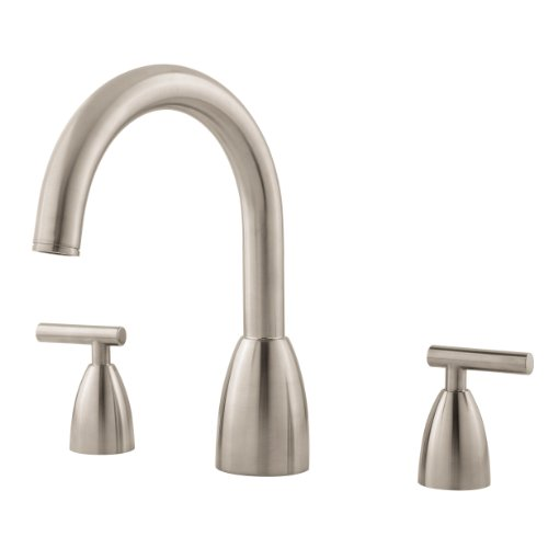 Pfister Contempra 2 Handle High Arc Roman Tub Faucet In Brushed Nickel Lo