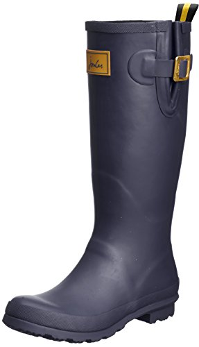 Joules Women's Field Welly Rain Boot, Navy, 9 M US