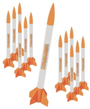 Quest Aerospace Starhawk Model Rocket Value Pack (12)