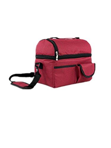 TANG imp Portatile Insulated Termica Borsa Del Pranzo Picnic Borse Porta Alimenti Tessuto Oxford Pranzo Tote Sacco Bento Stoccaggio Lunchbox Pouch Vino Rosso