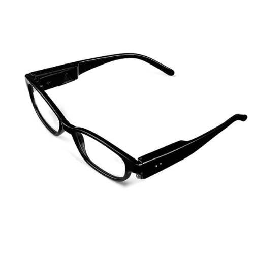 Bright Led Lighted Up Map Readers Reading Eye Glasses +3.00 Black Full Frame Touch Switch Hand Free front-1020354