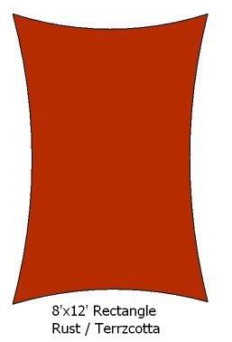 8' X 12' Terracotta / Rust Rectangle Premium
