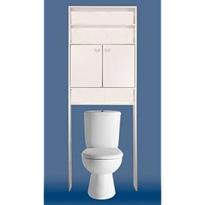 bas prix meuble toilettes wc m tal blanc 3 tablettes tag re fournitures de bureau pour. Black Bedroom Furniture Sets. Home Design Ideas